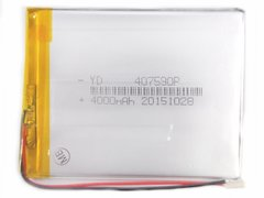 Аккумуляторная батарея универсальная 407590p (4*75*90 мм)